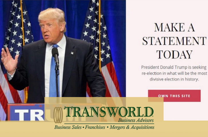 Website URL donaldtrump2020.com for sale