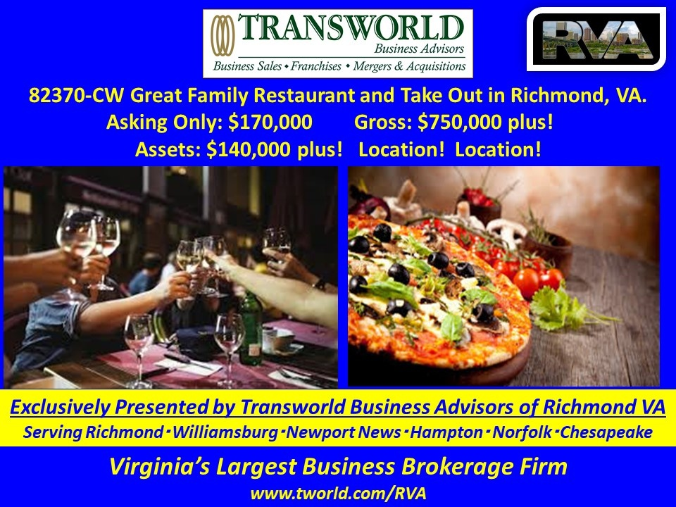 82370-CW Family Restaurant and Take Out in Richmond, VA.