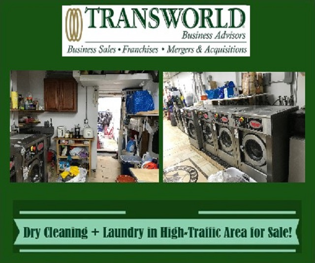 Dry Cleaning + Laundry in High-Traffic Area for Sale!