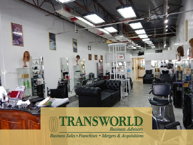 Turn Key Miami Hair Salon in Busy Shopping Center