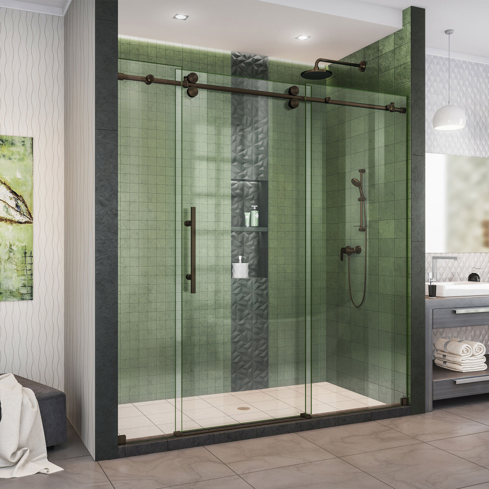This Glass company thrives doing shower doors-Suffolk Co