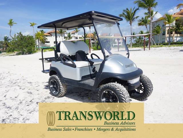 Custom Golf Cart Business FORE! Sale