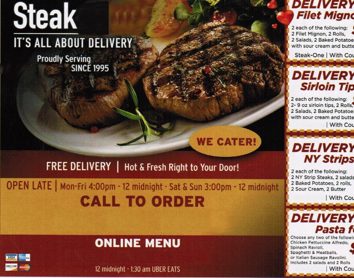 Hot Delivery Take Out Steak Restaurant For Sale