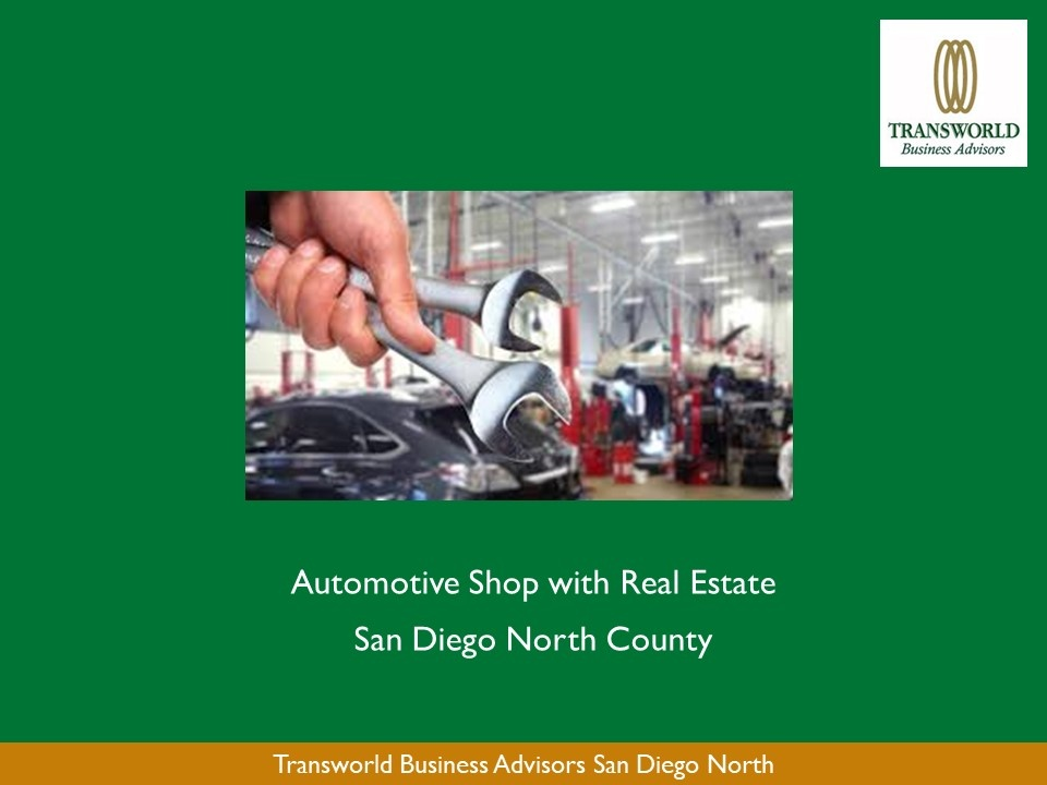San Diego North County - Auto Shop with Real Estate