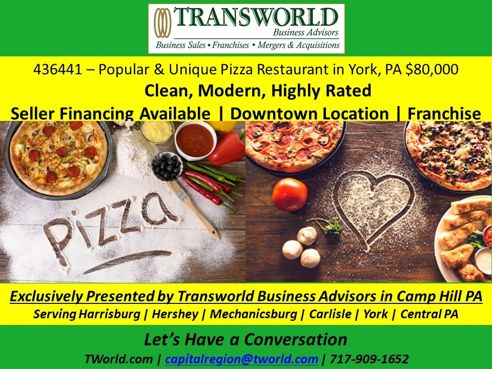 Seller Financed franchised Pizza Business for Sale with $50K downpayment