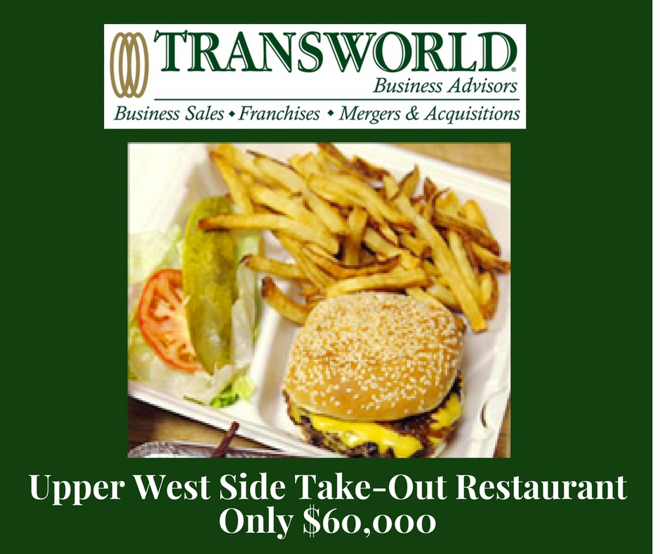 Fully Equipped UWS Take-Out Restaurant – ONLY $60,000