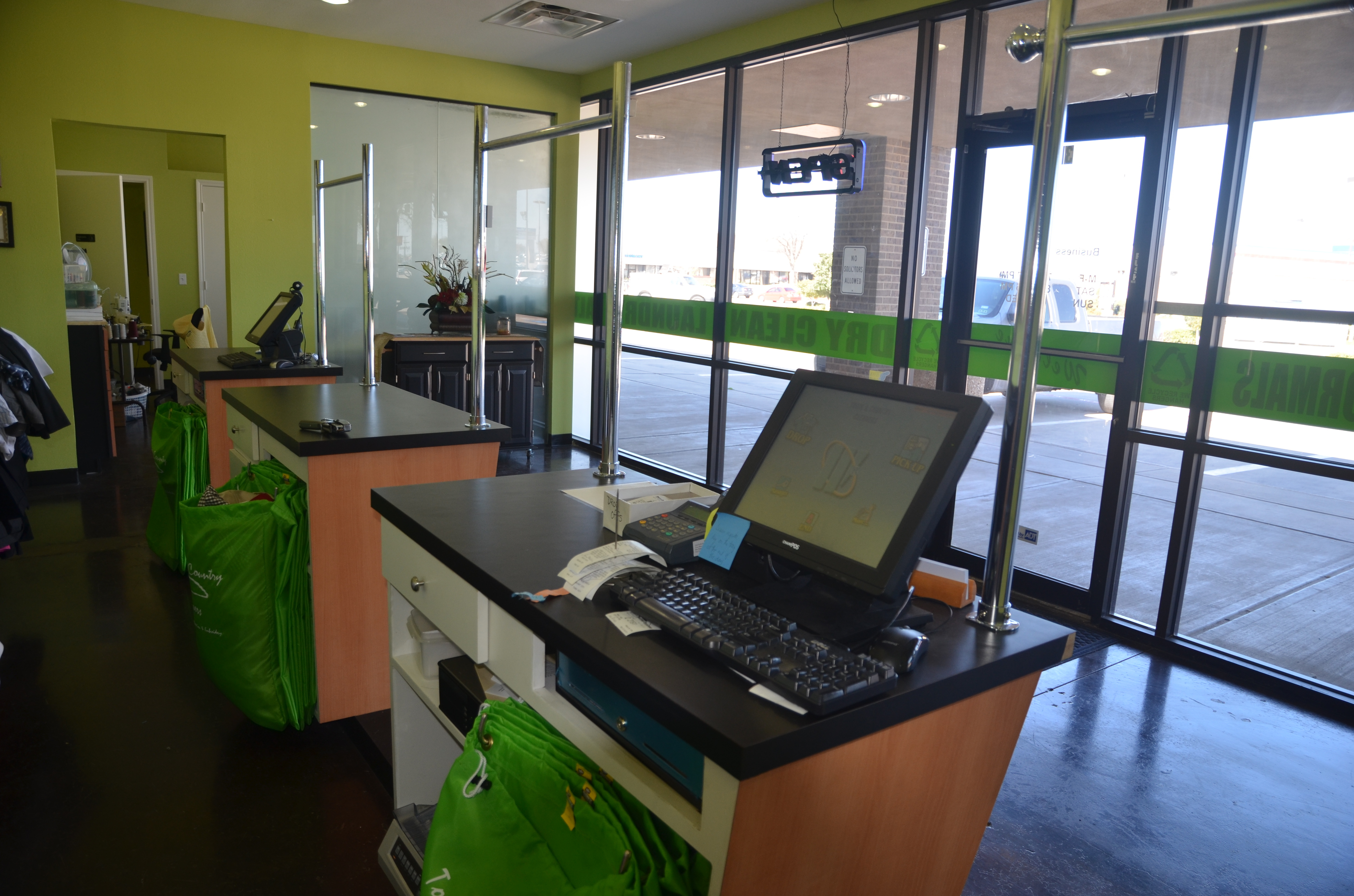 Dry Cleaning Plant & Drop Stores w Airport Contract and Lending