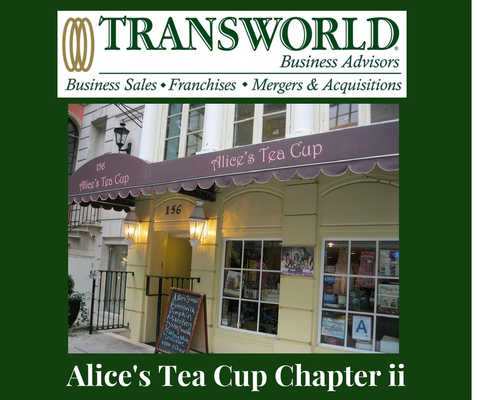 SWEET OPPORTUNITY!  PROFITABLE ALICE'S TEA CUP FRANCHISE