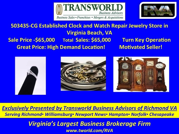 503435-CG Established Clock and Watch Repair in Norfolk