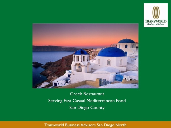 Greek Restaurant - Fast Casual