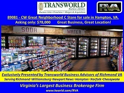 89081 - CW Great Neighborhood C Store for sale in Hampton, VA.
