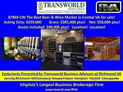 87969-CW The Best Beer & Wine Market in Central VA for sale!