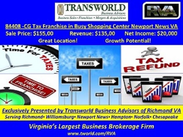 84408-CG Tax Franchise in Busy Shopping Center Newport News