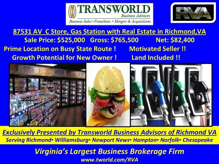 87531-RB Gas Station Cstore with Property in Henrico VA