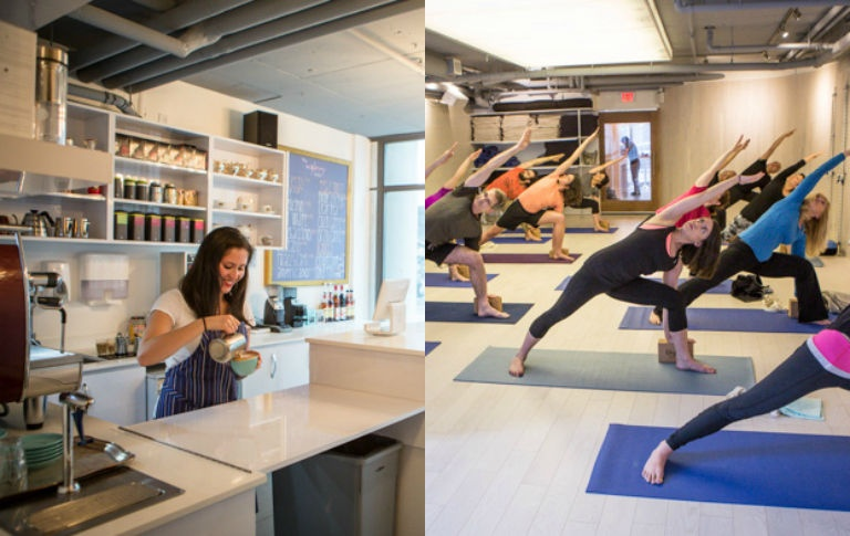 Yoga / Fitness Studio with Caféfor sale