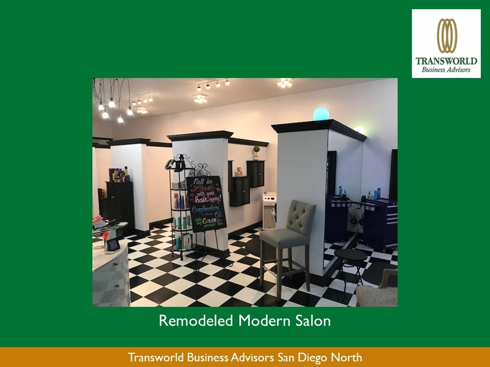Remodeled Salon in Carlsbad Village, Great Steet Presence