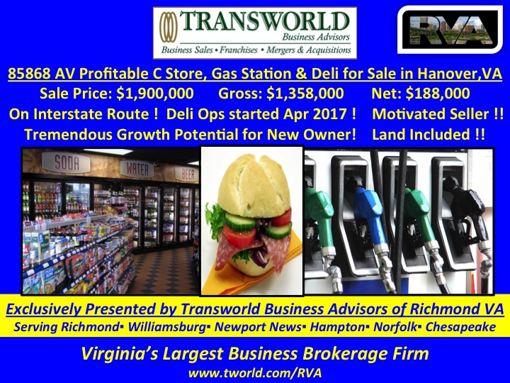 85868-AV Profitable C-store, Gas Station with property In Hanover